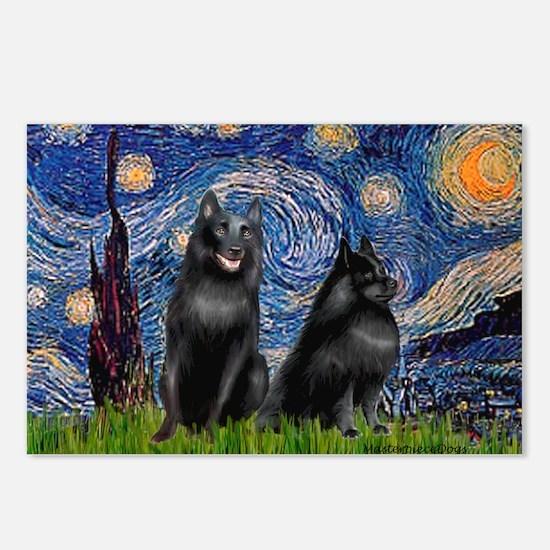 Starry / Schipperke Pair Postcards (Package of 8)