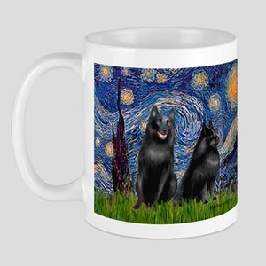 Starry / Schipperke Pair Mug