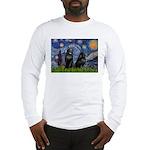 Starry / Schipperke Pair Long Sleeve T-Shirt