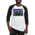 Starry / Schipperke Pair Baseball Jersey