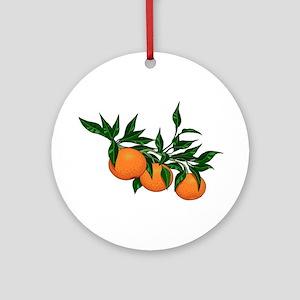 ORANGE DELIGHT Round Ornament