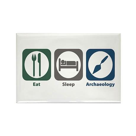 Eat Sleep Archaeology Rectangle Magnet (10 pack)