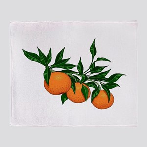 ORANGE DELIGHT Throw Blanket