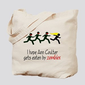 zombies chasing ann coulter Tote Bag