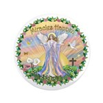 """Miracles Happen 3.5"""" Button (100 pack)"""