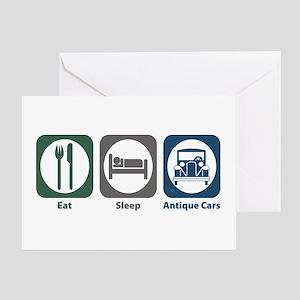 Eat Sleep Antique Cars Greeting Card