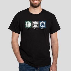Eat Sleep Anime Dark T-Shirt