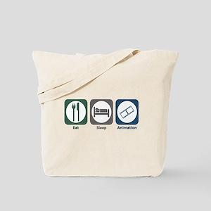 Eat Sleep Animation Tote Bag