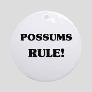 Possums Rule Ornament (Round)