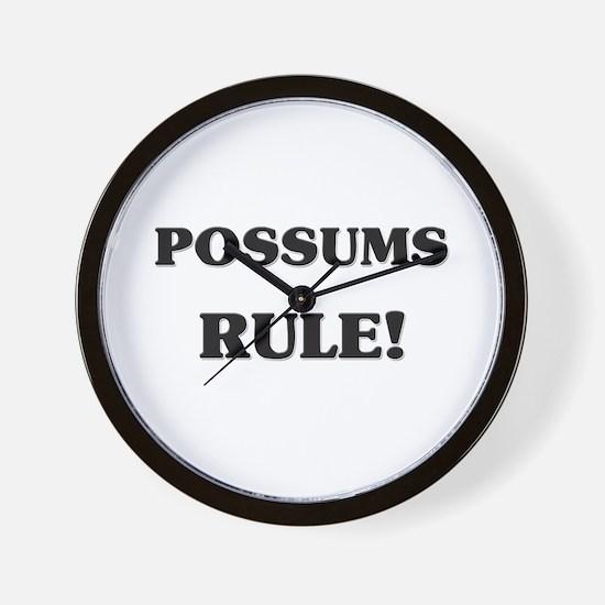 Possums Rule Wall Clock