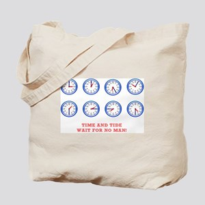 TIME AND TIDE - WAIT FOR NO MAN Tote Bag