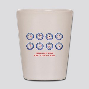 TIME AND TIDE - WAIT FOR NO MAN Shot Glass