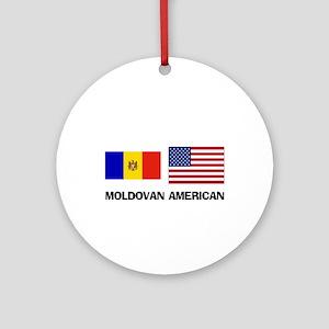 Moldovan American Ornament (Round)