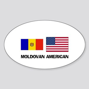 Moldovan American Oval Sticker