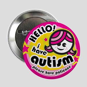 """Hello-Autism (Girl2) 2.25"""" Button"""