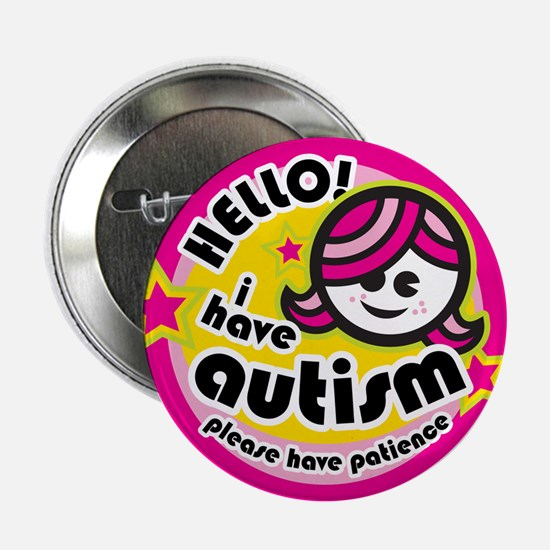 "Hello-Autism (Girl2) 2.25"" Button"