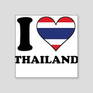 I Love Thailand Thai Flag Heart Sticker
