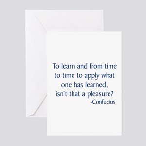 Confucius 11 Greeting Cards (Pk of 10)