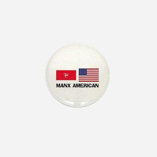 Manx American Mini Button