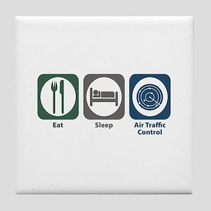 Eat Sleep Air Traffic Control Tile Coaster