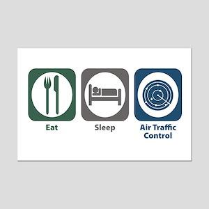 Eat Sleep Air Traffic Control Mini Poster Print