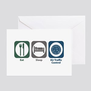 Eat Sleep Air Traffic Control Greeting Card