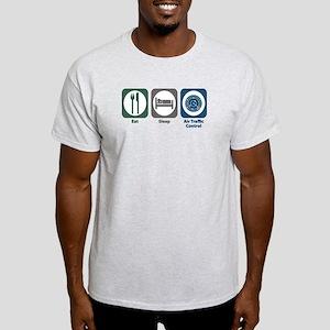 Eat Sleep Air Traffic Control Light T-Shirt