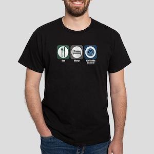 Eat Sleep Air Traffic Control Dark T-Shirt