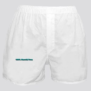 100% Steroid Free! (Teal Vers Boxer Shorts