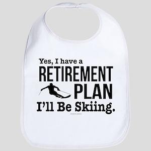 Ski Retirement Plan Baby Bib