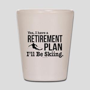 Ski Retirement Plan Shot Glass