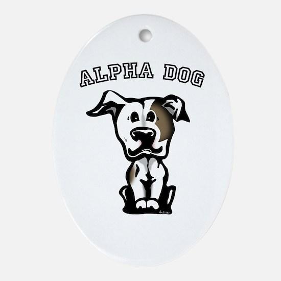 Alpha Dog Oval Ornament