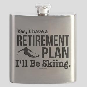 Ski Retirement Plan Flask