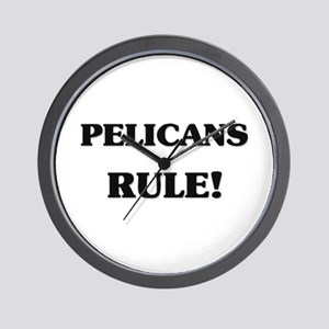Pelicans Rule Wall Clock