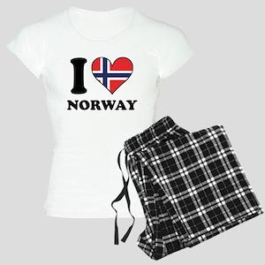 I Love Norway Norwegian Flag Heart Pajamas