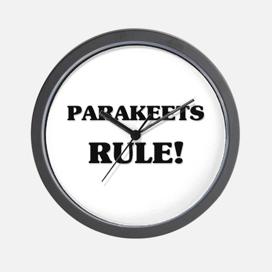Parakeets Rule Wall Clock