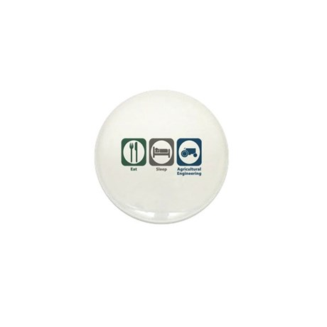 Eat Sleep Agricultural Engineering Mini Button (10