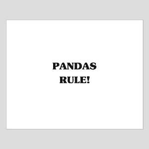 Pandas Rule Small Poster
