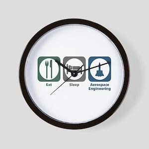 Eat Sleep Aerospace Engineering Wall Clock