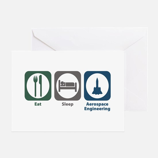 Eat Sleep Aerospace Engineering Greeting Card