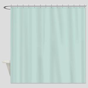 Minimalist Mint Green Blue Shower Curtain