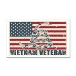 Vietnam Veteran Rectangle Car Magnet
