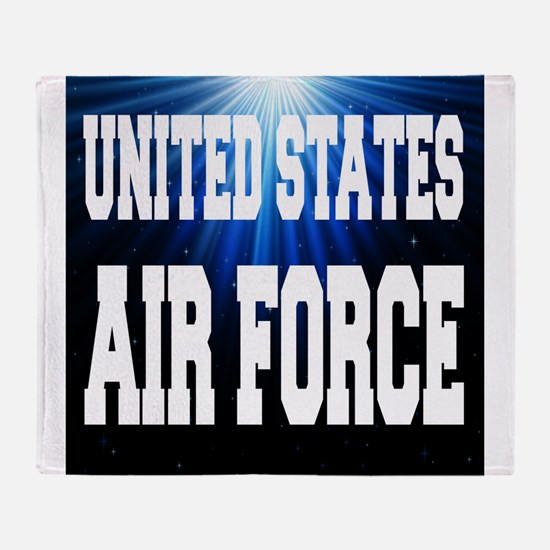 United States Air Force Throw Blanket