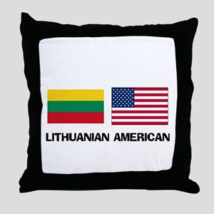Lithuanian American Throw Pillow