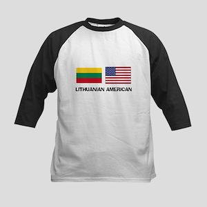 Lithuanian American Kids Baseball Jersey