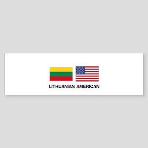 Lithuanian American Bumper Sticker