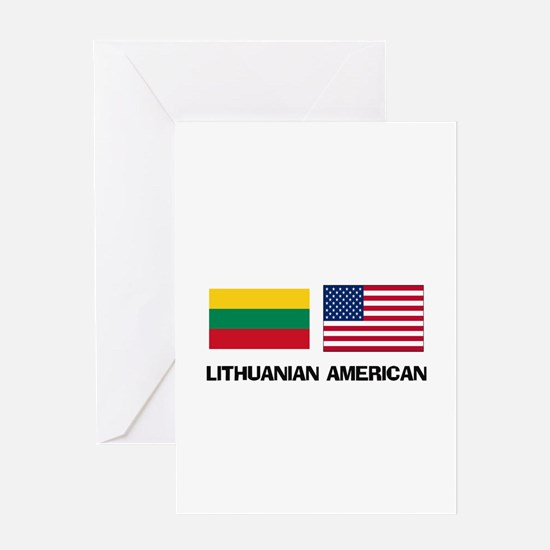 Lithuanian American Greeting Card