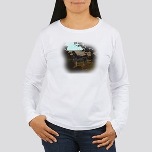 coonhound landscape Women's Long Sleeve T-Shirt