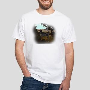 coonhound landscape White T-Shirt
