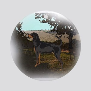 coonhound landscape Ornament (Round)